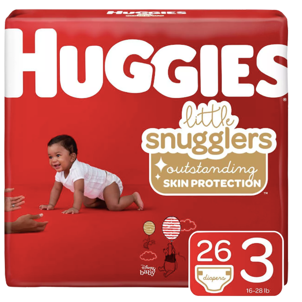 Huggies Baby Diapers - Size 3 (26 Count) - Water Butlers