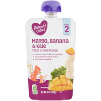 Parent's Choice Puree, Mango Banana & Kale, 4 oz - Water Butlers