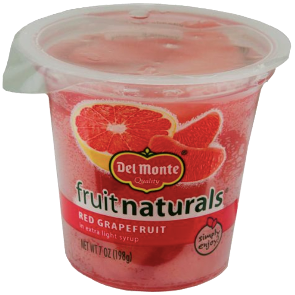 Del Monte Fruit Naturals, Red Grapefruit, 6.5 oz Cup - Water Butlers