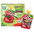 Mott's Applesauce Clear pouches, No Sugar Added Mixed Berry 4 Ct
