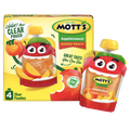 Mott's Applesauce Clear pouches, Mango & Peach, 4 Ct