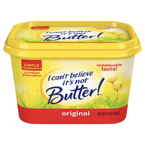 I Can't Believe It's Not Butter, Original, 15 oz - Water Butlers