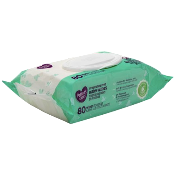 Parent's choice Baby Wipes, 80 Count - Water Butlers