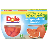 Dole Fruit Bowls, Red Grapefruit Sunrise, 4 Cups - Water Butlers