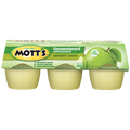 Mott's Applesauce Unsweetened Granny Smith, 4oz Cups, 6 Ct
