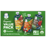Gerber Toddler Baby Food Organic Value Pack, 9 Count - Water Butlers