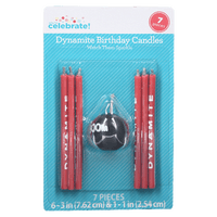 Way to Celebrate Dynamite Novelty Candles, 7 Count - Water Butlers