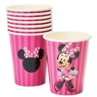 Minnie Mouse Paper Party Cups, 9 oz, 8 Ct - Water Butlers