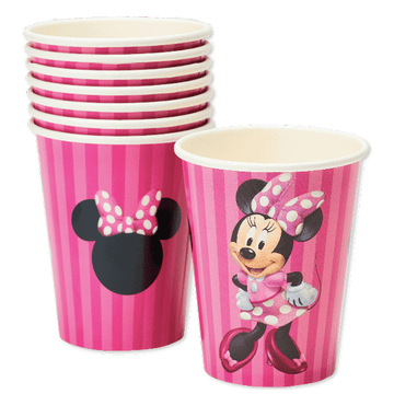 Minnie Mouse Paper Party Cups, 9 oz, 8 Ct