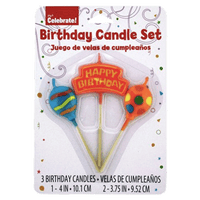 Happy Birthday Candles, 3ct - Water Butlers