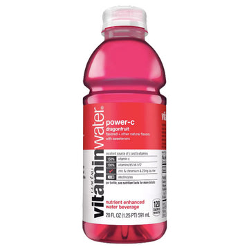 Vitaminwater Bottle, Power-C Dragonfruit, 20oz.