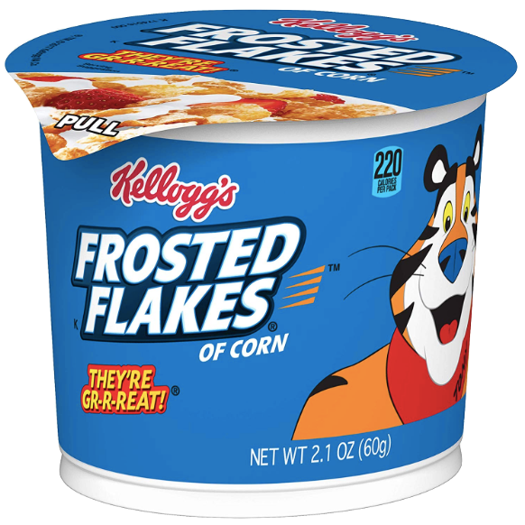 Kelloggs Frosted Flakes Cereal Cup 1.5 oz - Water Butlers