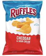 Ruffles Ridged Potato Chips, Cheddar & Sour Cream - 8.5oz - Water Butlers
