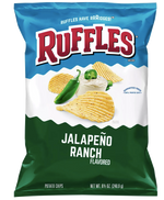 Ruffles Ridged Potato Chips, Jalapeno Ranch - 8.5oz - Water Butlers