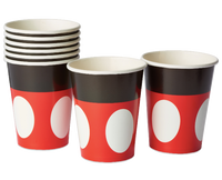 Mickey Mouse Paper Party Cups, 9 oz, 8 Ct - Water Butlers