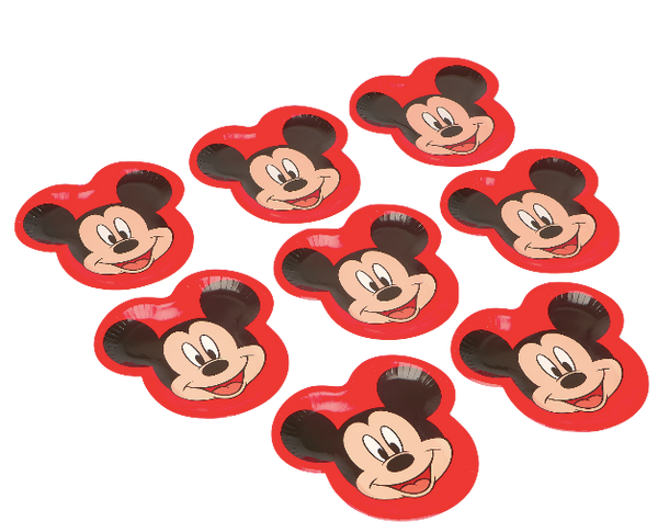 Mickey Mouse-Shaped Paper Dinner Plates, 8 Ct - Water Butlers
