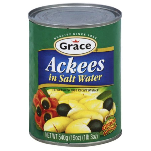 Grace Ackees in Salt Water, 19 oz - Water Butlers