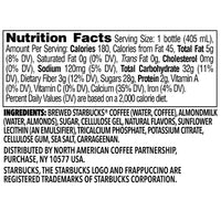 Starbucks Frappuccino Bottle, Almond Milk Vanilla Coffee 13.7 oz - Water Butlers