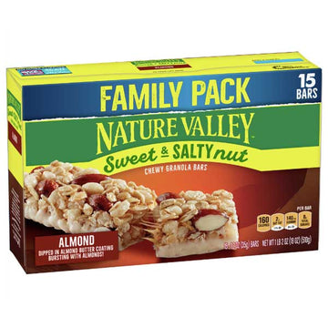 Nature Valley Sweet & Salty Nut Almond Granola Bars, 15 Ct
