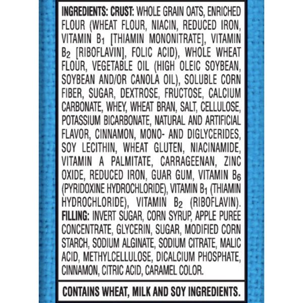 Kellogg's Apple Cinnamon Nutri-Grain Pack, 8 Ct - Water Butlers