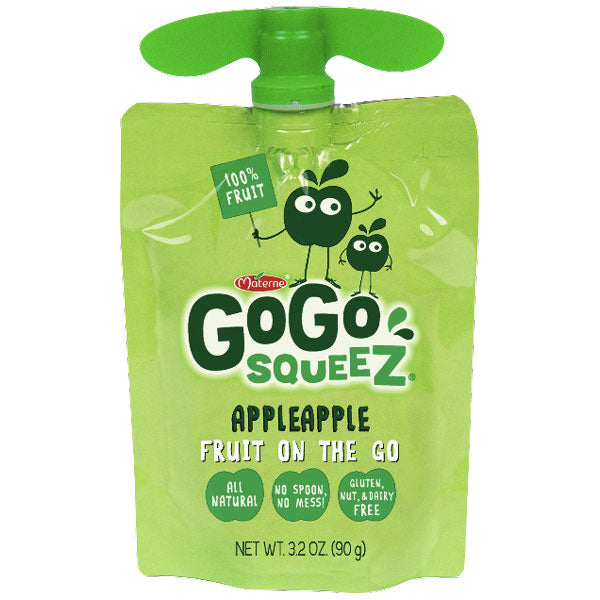GoGo squeeZ Applesauce, Apple 3.2oz, 12 Ct - Water Butlers