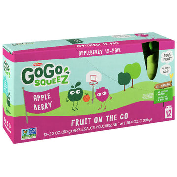GoGo squeeZ Applesauce Berry 3.2oz, 12 Ct