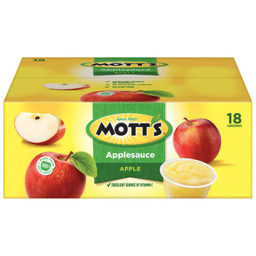 Mott's Apple Applesauce, 4 oz Cups, 18 Ct