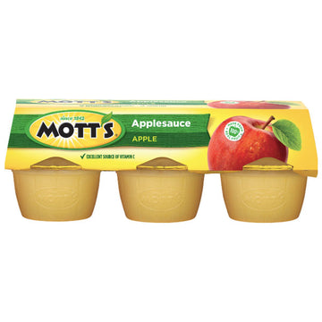Mott's Applesauce Apple, 4 oz Cups, 6 Ct