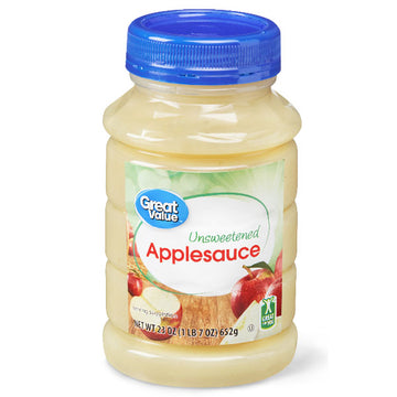 Great Value Unsweetened Applesauce, 23 oz