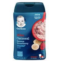 Gerber Single Baby Cereal, Oatmeal Banana Strawberry - 8oz - Water Butlers