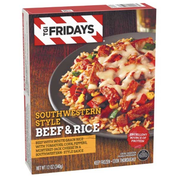 TGI Fridays Southwestern Style Beef and Rice, 12 oz - Water Butlers