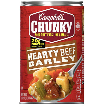 Campbell's Chunky Hearty Beef Barley, 18.8 oz
