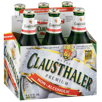 Clausthaler Non-Alcoholic Pilsner Beer, 12 fl oz, 6 Ct