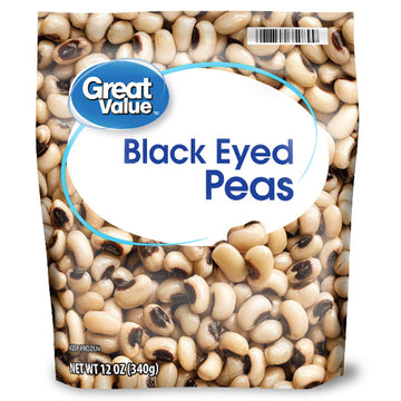 Great Value Black Eyed Peas, 12 oz