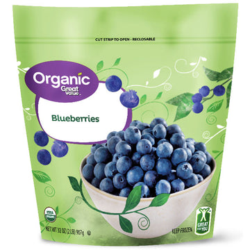 Great Value Organic Frozen Blueberries, 32 oz