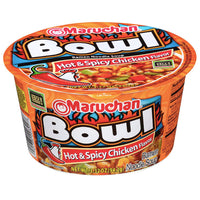 Maruchan Bowl Hot & Spicy Chicken Flavor, 3.32 oz. - Water Butlers