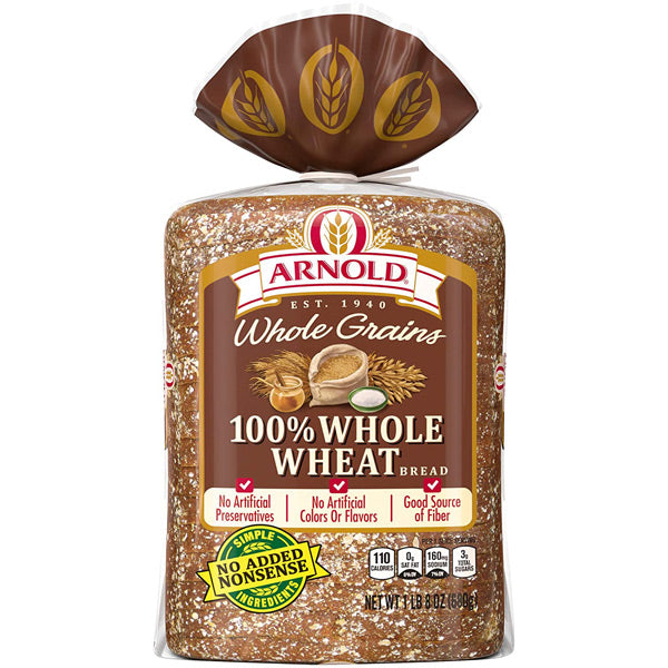 Arnold Bread, 100% Whole Wheat