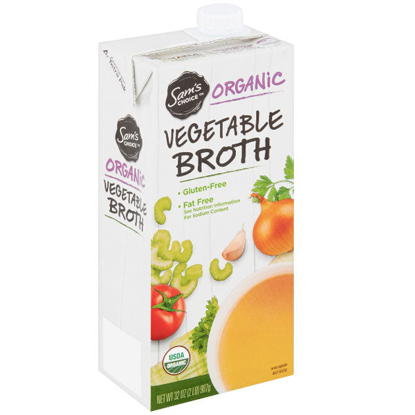 Sam's Choice Organic Vegetable Broth, 32 oz - Water Butlers