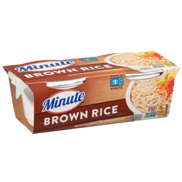 Minute Microwaveable Brown Rice 8.8oz, 2 Ct - Water Butlers