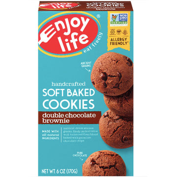 Enjoy Life Gluten Free, Soft Baked Double Chocolate Brownie, 6oz