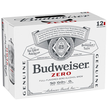 Budweiser Zero Non-Alcoholic Beer, 12 Pack 12 fl. oz.