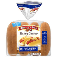 Pepperidge Farm Top Sliced White Hot Dog Buns, 14 oz, 8 Ct - Water Butlers