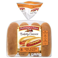Pepperidge Farm Side Sliced Hot Dog Buns, 14 oz, 8 Ct - Water Butlers