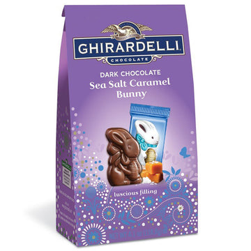 Ghirardelli Dark Chocolate Sea Salt Caramels Bunnies, 4.1 oz