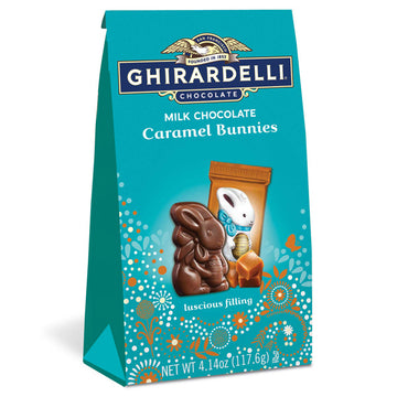 Ghirardelli Milk Chocolate Caramel Bunnies, 4.14 oz.
