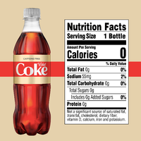 Coca Cola Diet Caffeine Free, 16.9 Fl Oz Coke, 6 Ct - Water Butlers