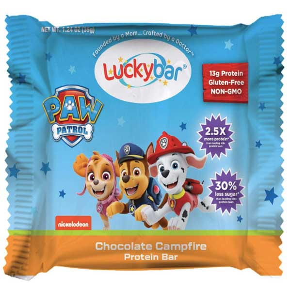 Luckybar Paw Patrol Chocolate Campfire Protein Bars, 5 Count - Water Butlers