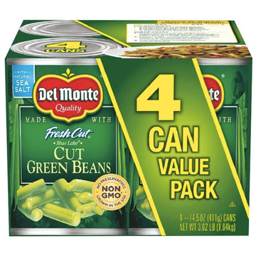 Del Monte Cut Green Beans Value Pack, 4 Ct