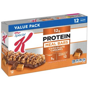 Kellogg's Special K Protein Meal Bar, Value Pack, Chocolate Caramel, 12 Ct