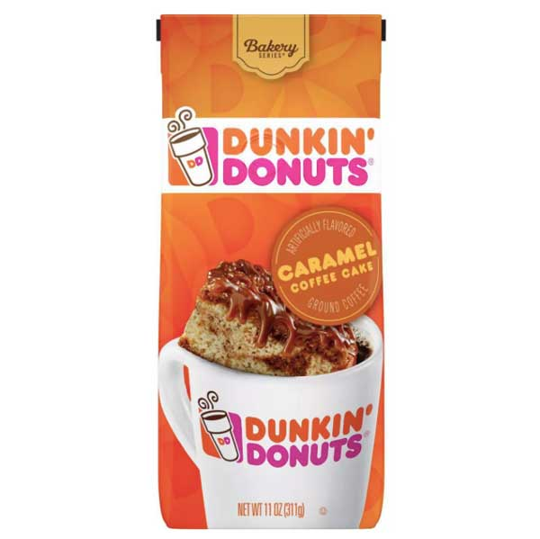 Dunkin' Donuts Caramel Cake Medium Roast Ground Coffee, 11 oz - Water Butlers